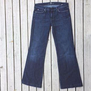7 FAMK Dojo Jeans size 31 medium wash